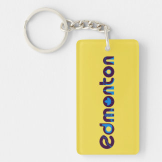 Edmonton Tweezijdige Keychain Sleutelhanger