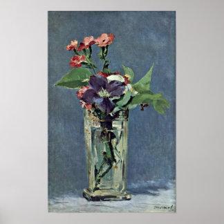 Edouard Manet - Anjers en Clematissen Poster