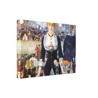 Edouard Manet - Bar in folies-Bergere Canvas Print
