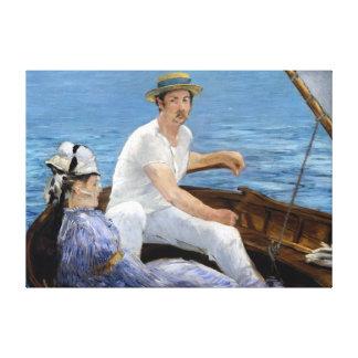 Édouard Manet Boating Canvas Afdrukken
