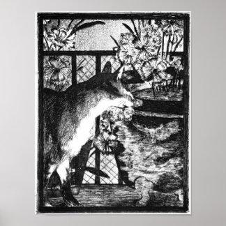 Édouard Manet Cat en Bloemen Poster