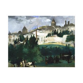 Édouard Manet de Begrafenis Canvas Afdruk
