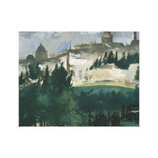 Edouard Manet - de Begrafenis Canvas Afdrukken