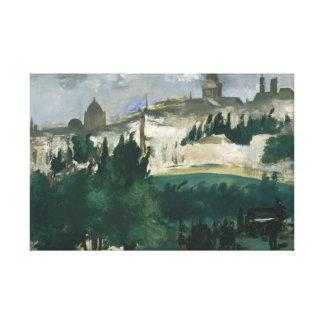 Edouard Manet - de Begrafenis Canvas Print