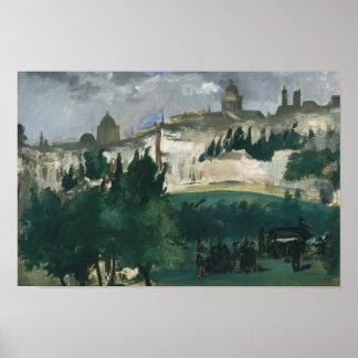Edouard Manet - de Begrafenis Poster