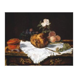 Édouard Manet de Brioche Canvas Afdruk