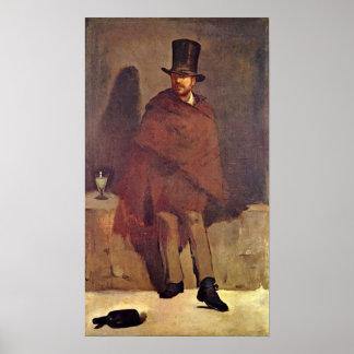 Edouard Manet - de Drinker van de Alsem Poster