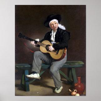 Édouard Manet de Spaanse Zanger Poster