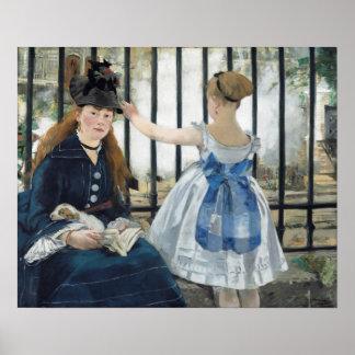 Édouard Manet: De spoorweg Poster