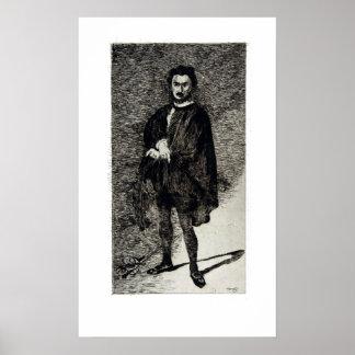 Édouard Manet de Tragische Acteur Rouvière als Poster