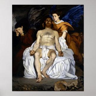 Édouard Manet Dode Christus met Engelen Poster