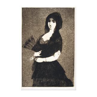 Édouard Manet Exotic Flower Canvas Afdruk