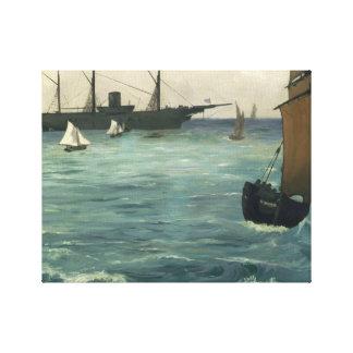 Edouard Manet - Kearsarge in Boulogne Canvas Afdruk