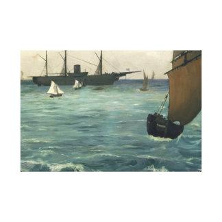 Edouard Manet - Kearsarge in Boulogne Canvas Afdrukken