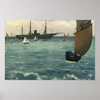 Edouard Manet - Kearsarge in Boulogne Poster