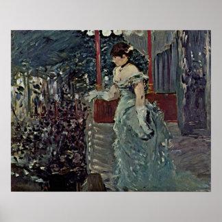 Edouard Manet - koffie-Overleg Poster
