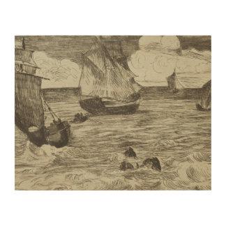 Edouard Manet - Marine Hout Afdruk