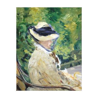 Édouard Manet Mevrouw Manet in Bellevue Canvas Afdrukken