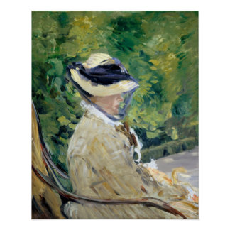 Édouard Manet Mevrouw Manet in Bellevue Poster