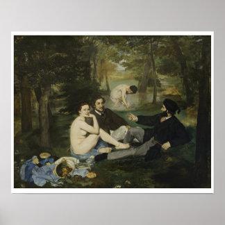 Edouard Manet - Middagmaal op het Gras Poster