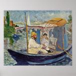 Edouard Manet - Portret DE Claude Monet Posters