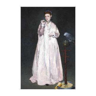 Édouard Manet Young Dame in 1866 Canvas Afdrukken
