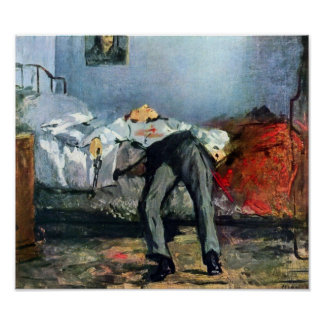 Edouard Manet - Zelfmoord Poster