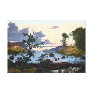 Eduard von Buchan Sunrise over Noordelijk Canvas Afdrukken