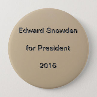 Edward Snowden voor President 2016 Ronde Button 4,0 Cm