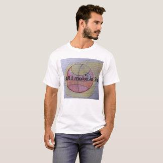 Een aardige T-shirt van het Schrijfpapier aan