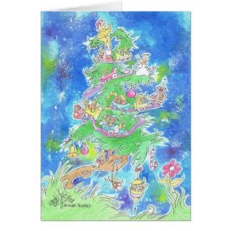 Een afbeelding van een Kerstboom op een kaart