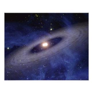Een afgelegen zonnestelsel fotoafdruk