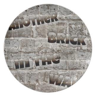 Een andere baksteen bord