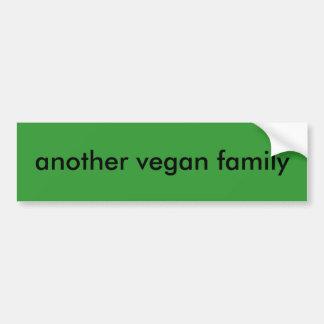 een andere veganistfamilie bumpersticker