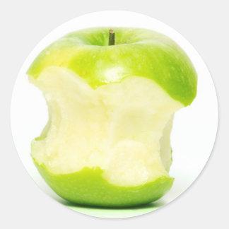 Een appel een dag houdt weg de arts ronde sticker