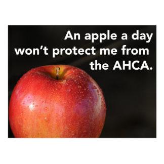Een appel een dag om AHCA tegen te houden! Briefkaart