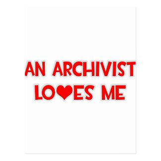 Een archivaris houdt van me briefkaart