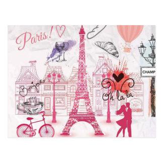 Een avond in Parijs Briefkaart