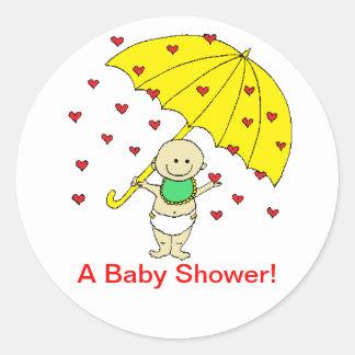 """Een """"baby shower!""""  Stickers"""