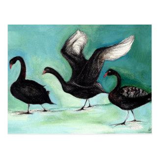 Een ballet van Zwarte Zwanen 2013 Briefkaart
