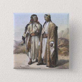 Een Bedouin Mahazi en een Soualeh, illustratie van Vierkante Button 5,1 Cm