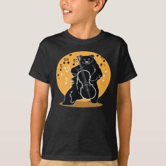 Een beer en een Cello T Shirt