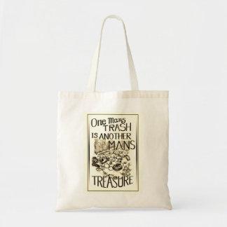 Één bemant Afval is het Canvas tas van de Schat