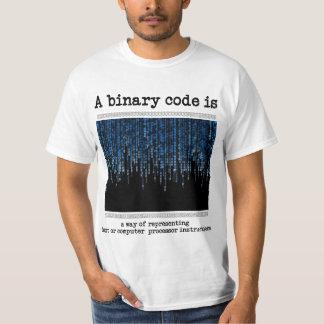 Een binaire code is? t shirt