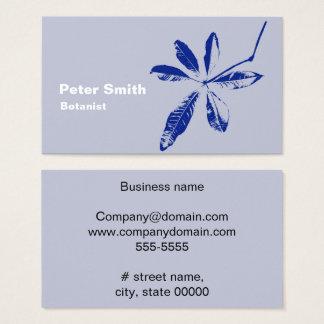 Een blauw Blad Visitekaartjes