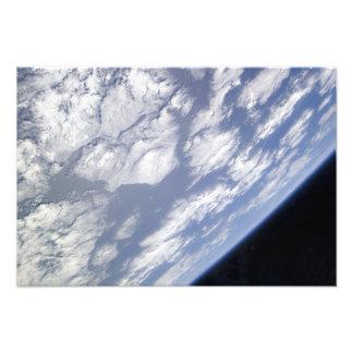 Een blauw en wit deel van Aarde Fotoprints
