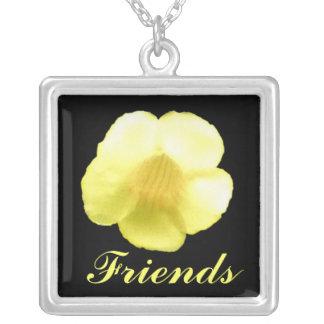 Een bloem voor mijn beste vriend persoonlijke ketting