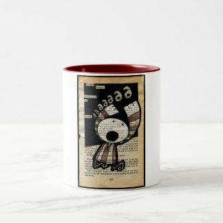 Een boze Stilte… Het vat van het Koekje Tweekleurige Koffiemok