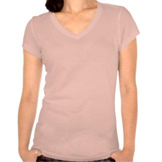 Één brak Vrouwen V van het Meisje - het T-shirt