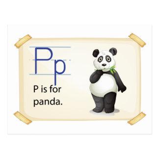 Een brief P voor panda Briefkaart